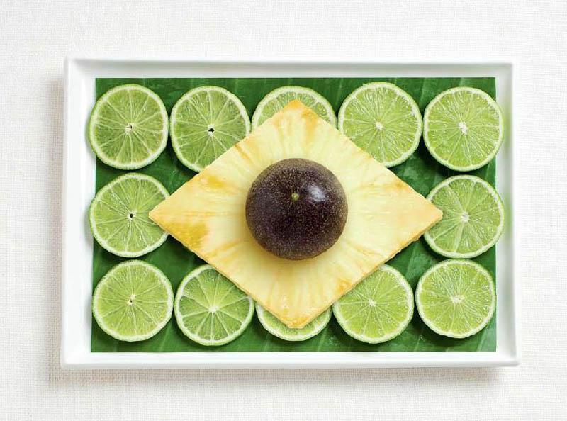 پرچم کشور برزیل,تزیین دسر ,تزیین خوراکی ها