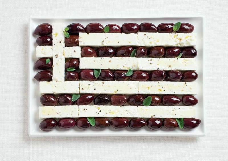 پرچم کشور یونان,تزیین دسر ,تزیین خوراکی ها