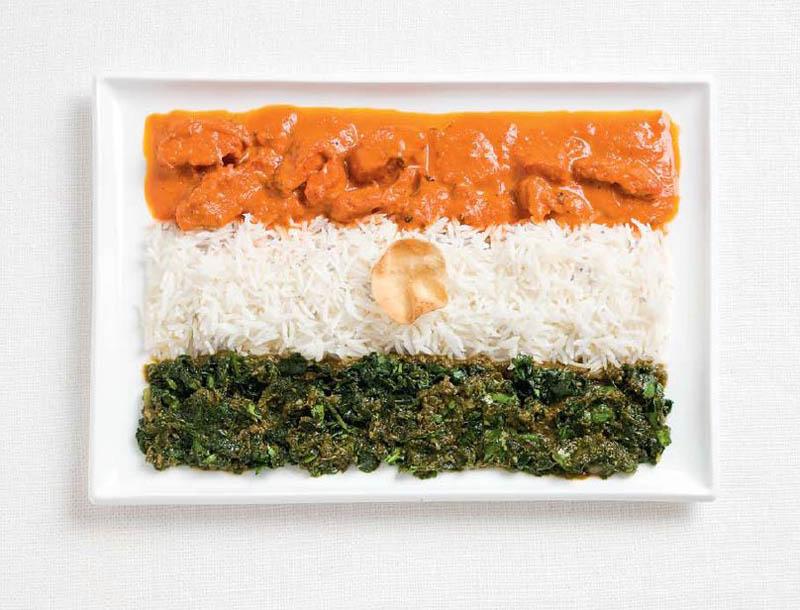 پرچم کشور هندوستان,تزیین دسر ,تزیین خوراکی ها