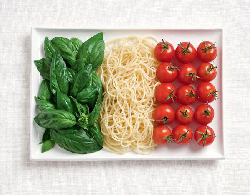 پرچم کشور ایتالیا,تزیین دسر ,تزیین خوراکی ها