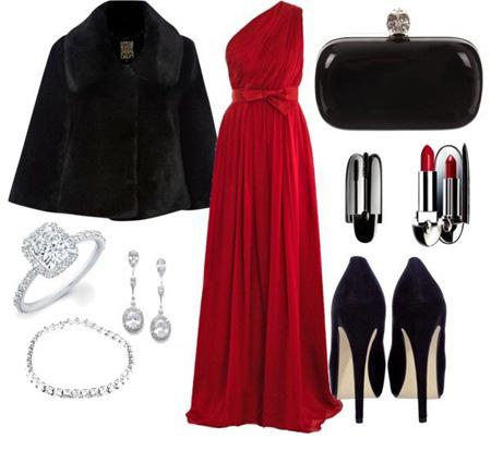 مدل ست های زمستانی قرمز و مشکی| ست کردن لباس های قرمز و مشکی