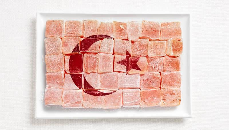 پرچم کشور ترکیه,تزیین دسر ,تزیین خوراکی ها