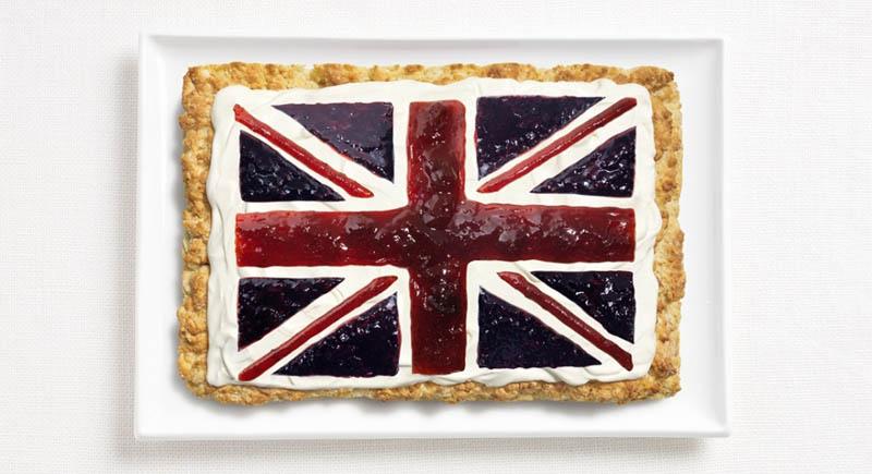 پرچم کشور انگلستان,تزیین دسر ,تزیین خوراکی ها