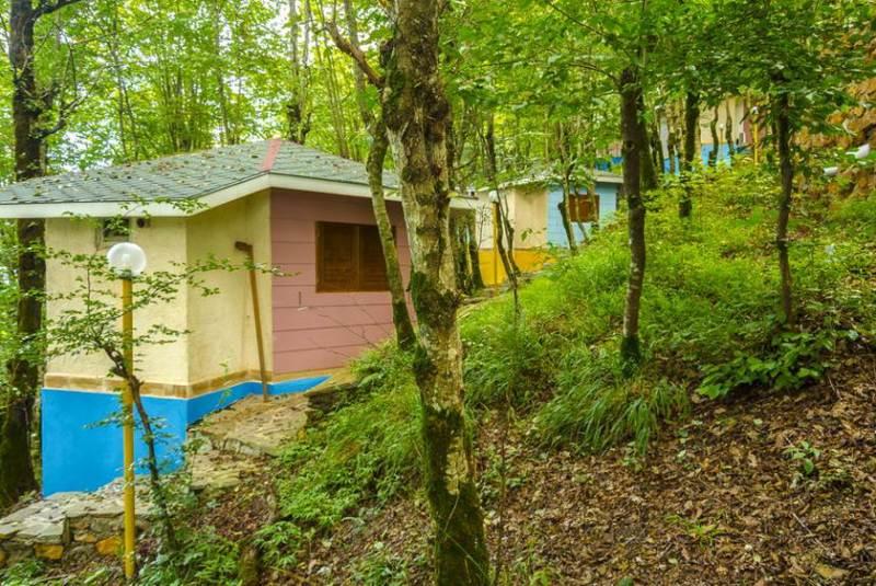 کلبه های جنگلی هتل بام رامسر
