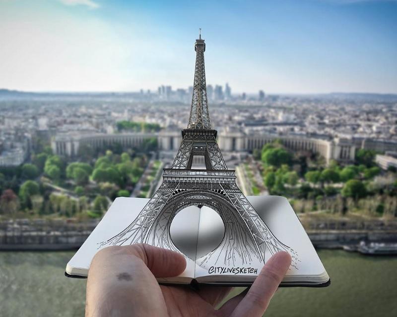 تصویر هنری برج ایفل