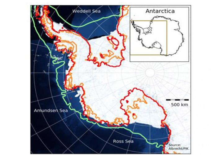 عقب نشینی یخ های قطب جنوب