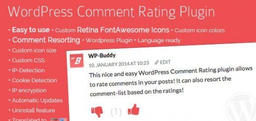 افزونه لایک کامنت WP Comment Rating