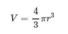 فرمول حجم کره