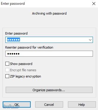 رمزگذاری فایل زیپ