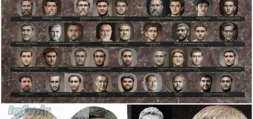 تصاویر پرترهای از ۵۳ امپراطور